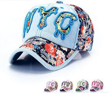 Custom Logo Nyc 3D Embroideried Denim Baseball Cap in Various Size, Design and Material pictures & photos