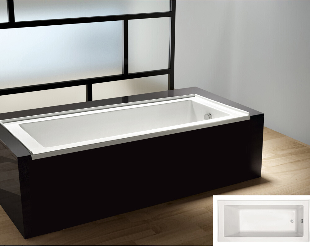 China 2018 New Style Tile Flange Drop-in Built in Acrylic Bathtub ...