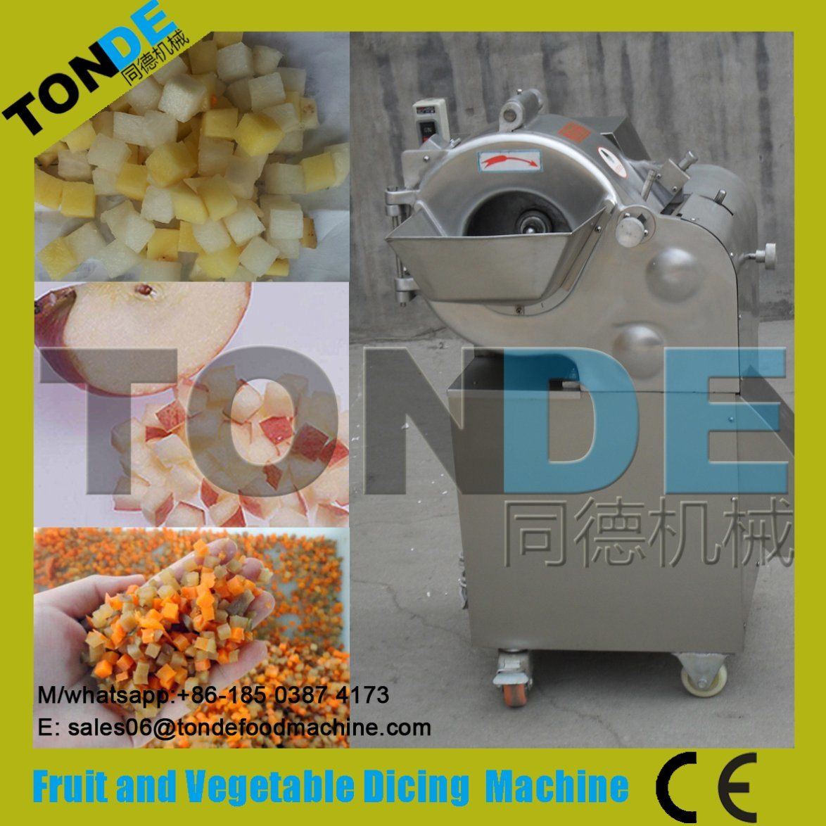 [Hot Item] Industrial Potato Tomato Onion Carrot Ginger Fruit and Vegetable  Chopper