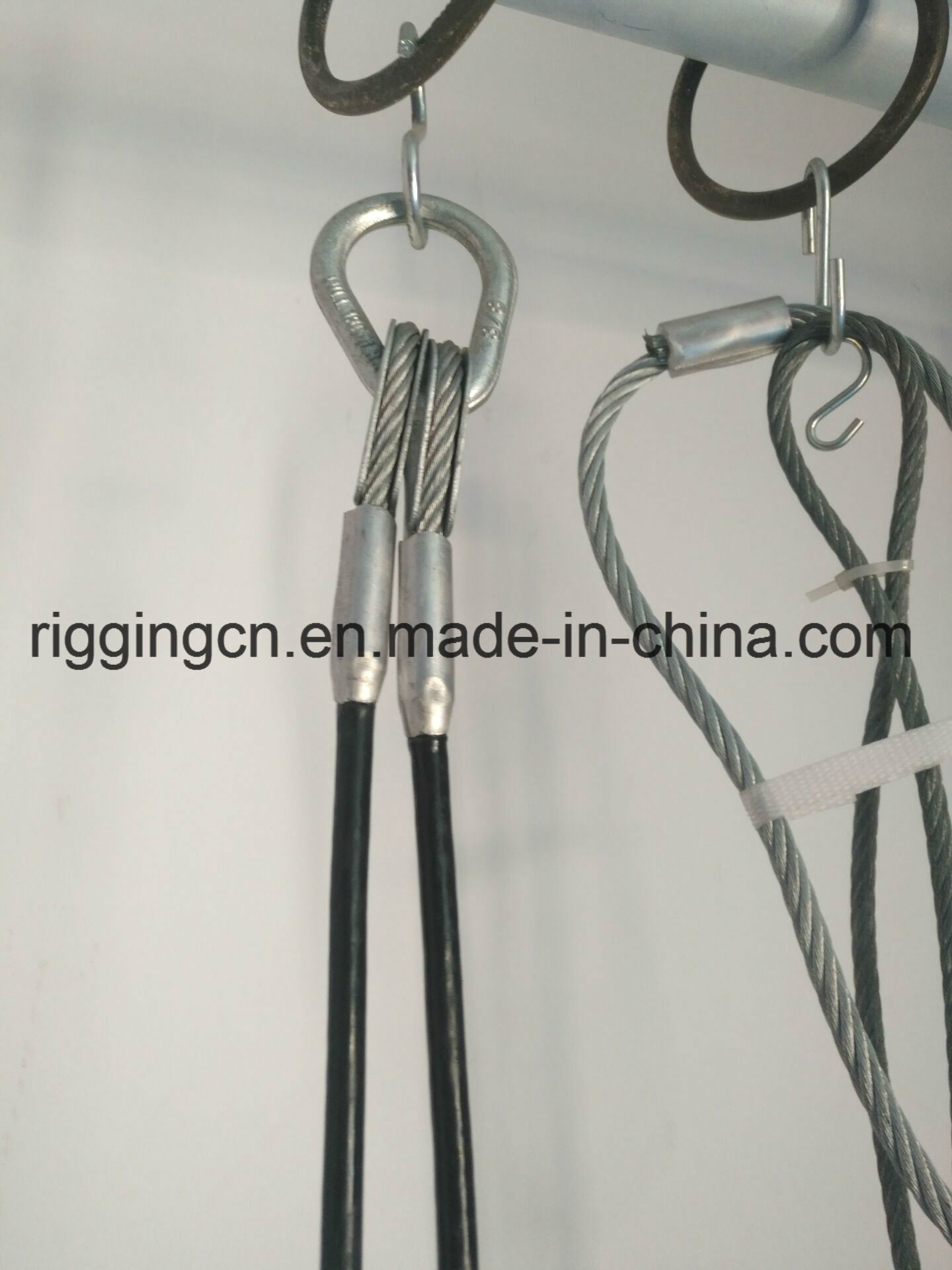 China Aluminium Sleeves for Wire Rope with Thimble and Eye Hook ...