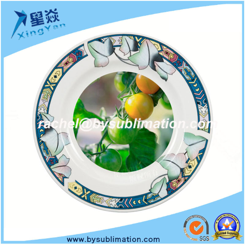 China Lotus Leaf Decor 8 Sublimation Ceramic Plate For Sale Photos