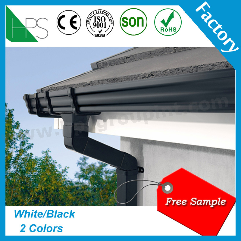 China Half Round Pvc Gutter For Water Collector For Kenya