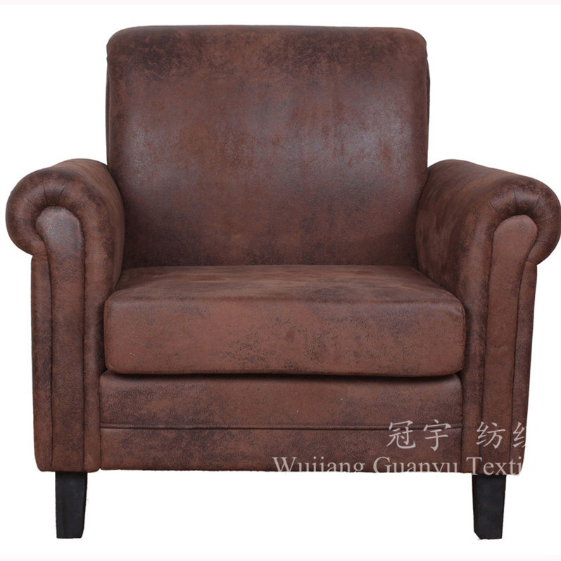 Bronzing Suede Polyester Faux Leather