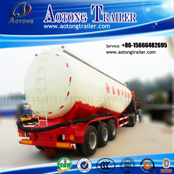 V Shaped Tri-Axle Cement Bulker, Bulk Cement Tanker Semi Truck Trailer pictures & photos
