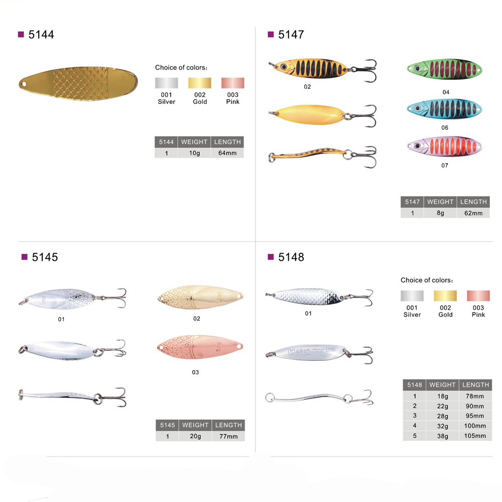 Wholesale Metal Baits Hard Lure Spoon Fishing Lure