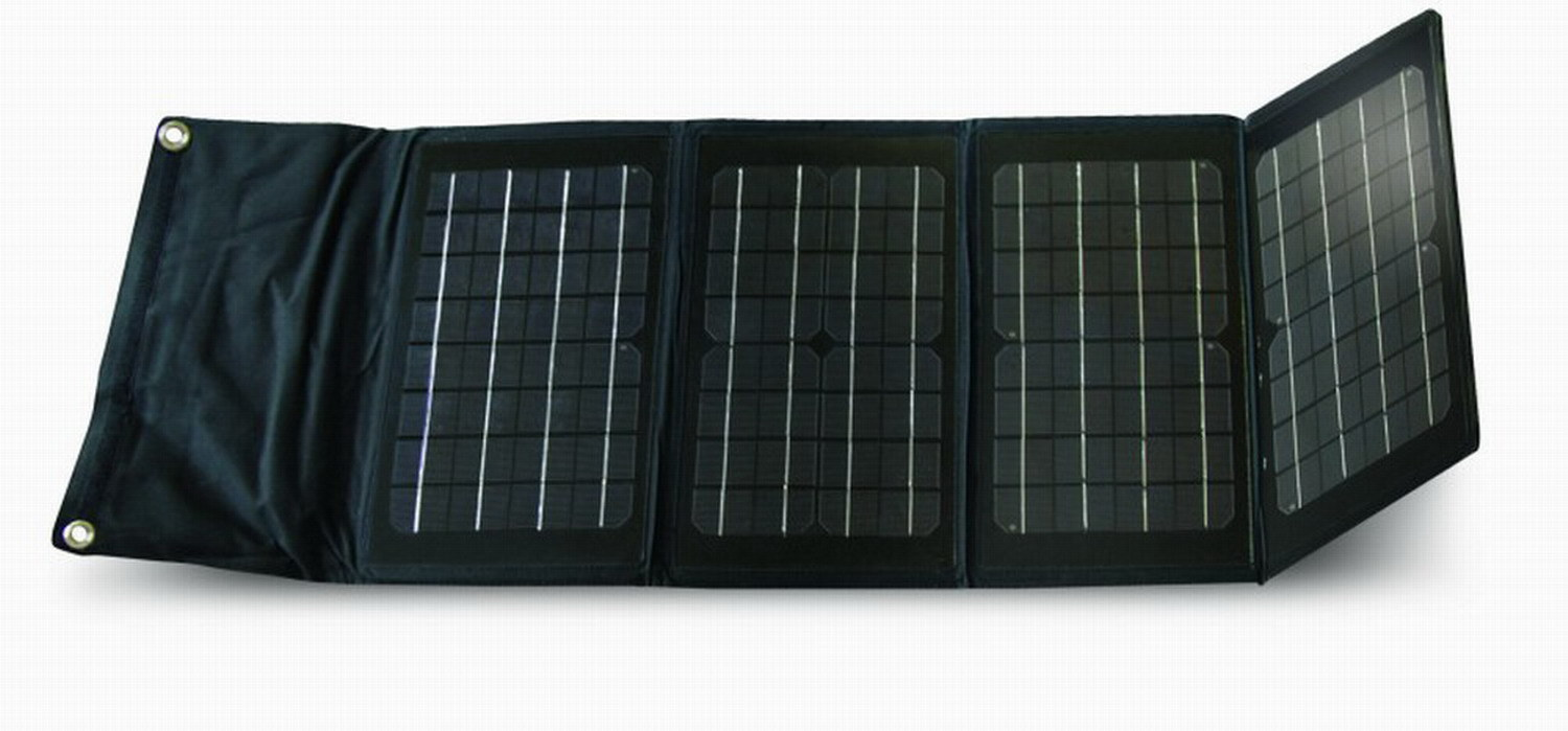 China 20w Foldable Portable Solar Charger For Laptop Mono Module Power