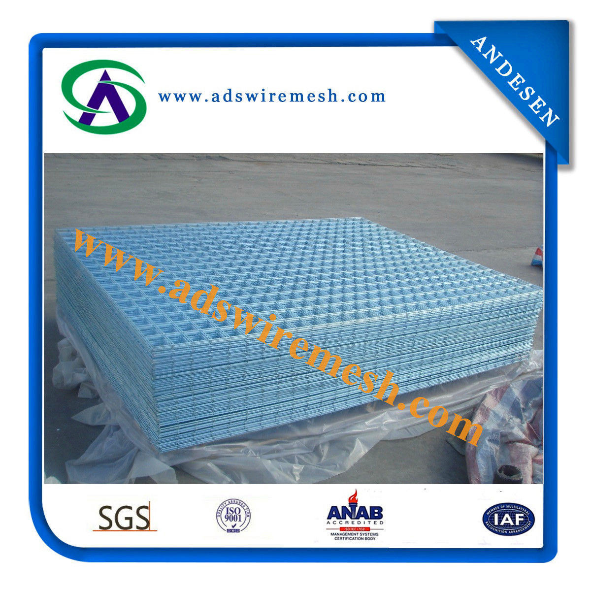 Galvanized Welded Wire Mesh Panel (ADS-WP-1)