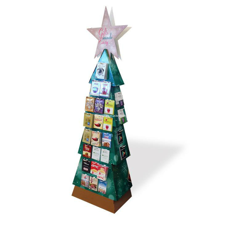 Four Cells Promotion Paper Display Stand
