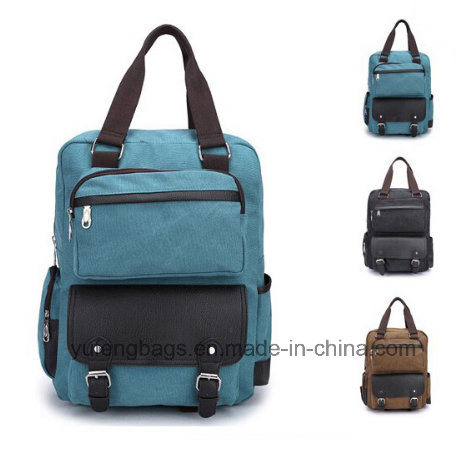 Wholesale Promotional Blank Pattern Custom Laptop School Bag Vintage Canvas  Backpack Yf-Sb1615 396832129e