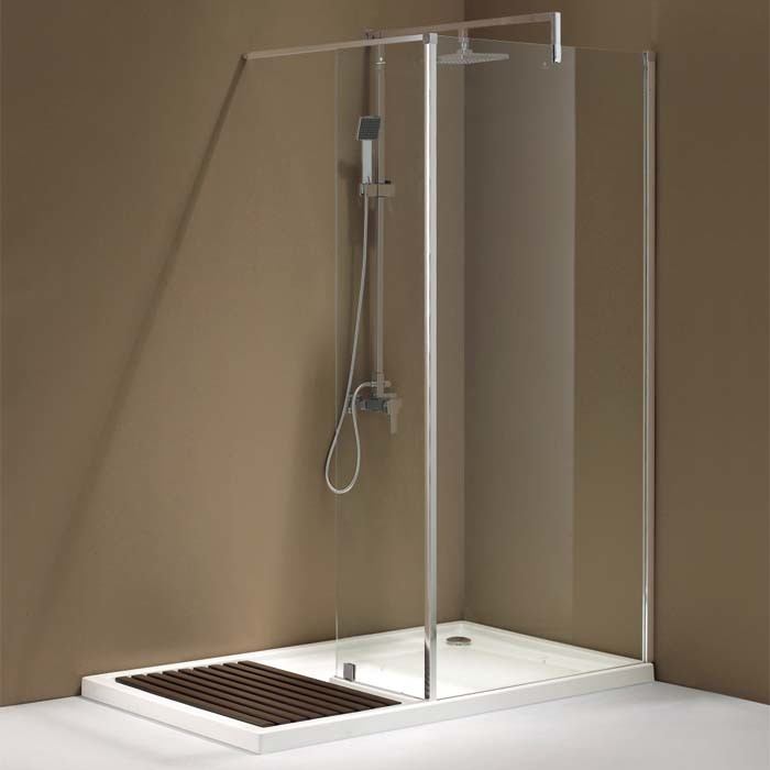 China Chromed Al Profile Walk in Shower Screen with Shower Tray ...