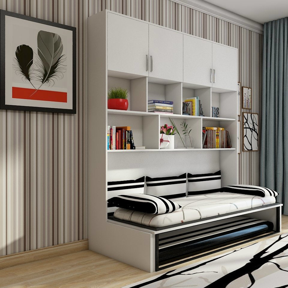 China Foldable Furniture King Size Murphy Bed Folding Wall Bed