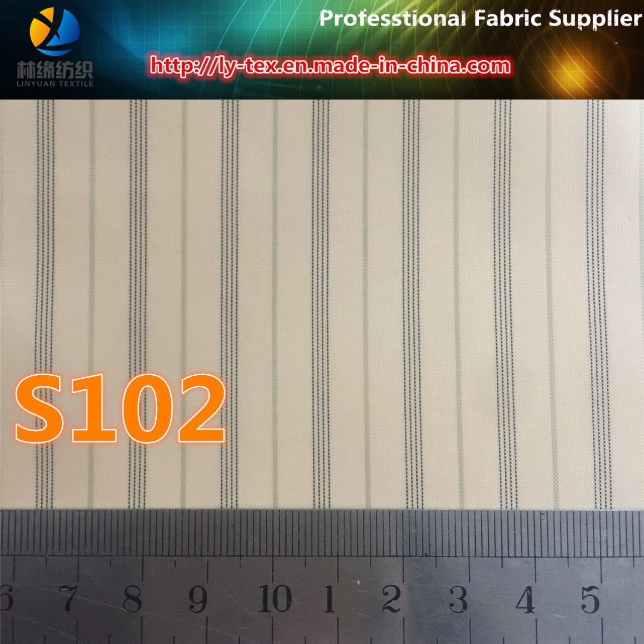 Cash Commodity Suit Lining in Polyester Stripe Fabric (S102.126) pictures & photos