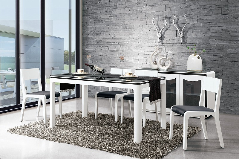 China 6 Seater Glass Dining Table Dining Room Furniture CT B108