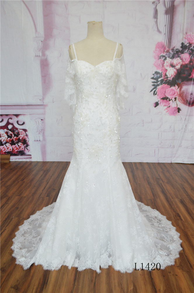 Guangzhou Wedding Dress 2016 Sweetheart Wedding Dress Lace Wedding Slim Dress Wear