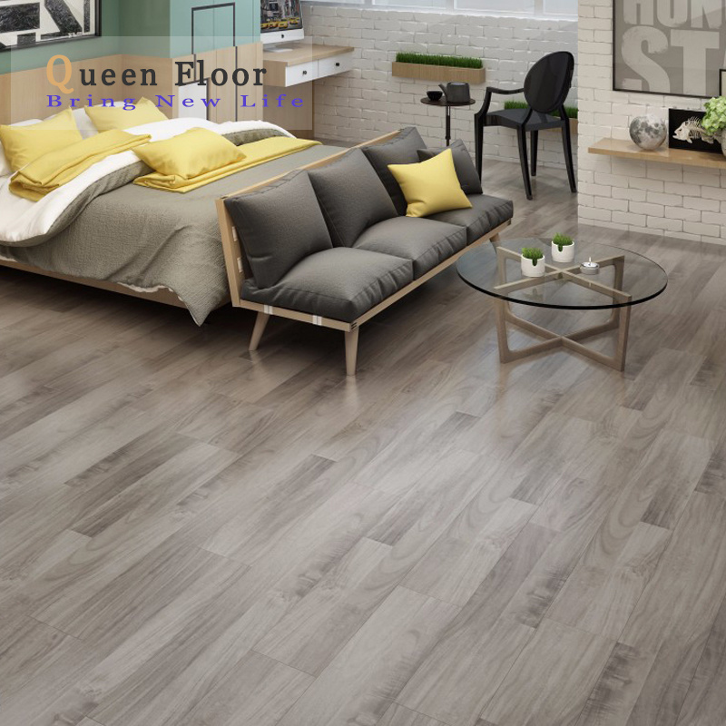 China Gray Color Class 31 Easy Click Waterproof Hdf Mdf Laminate