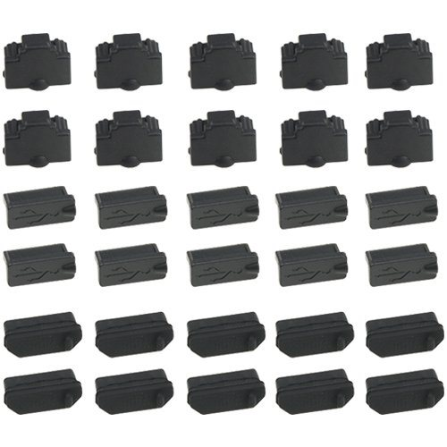 Lot of 10 DVI DVI-I DVI-D Port Plug Dust Cover Protector