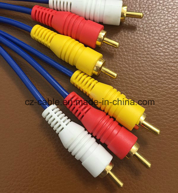 3RCA/3r Plug/Jack to 3RCA/3r Plug/Jack AV/TV/Audio/DVD/Media Cable/Wire (3R-3R) pictures & photos