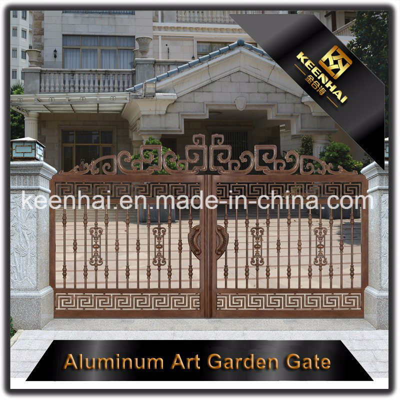 Powder Coated Metal Aluminum Security Garden Fence Gate for Villa pictures & photos