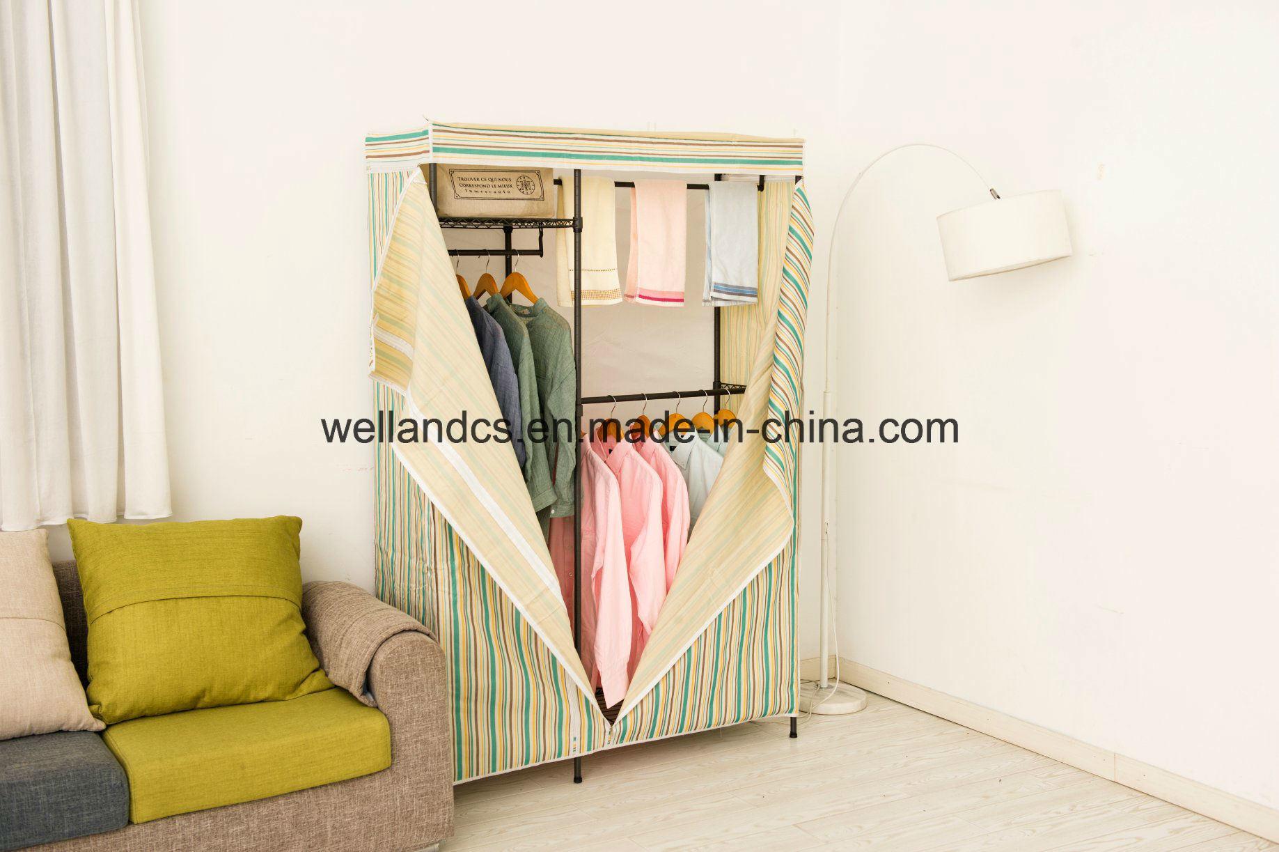 wardrobe cabinet stationary metal
