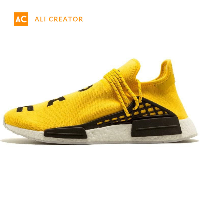 buy online 5fd9a 7dfd1 [Hot Item] 2019 Nmd Human Race Mens Running Shoes with Box Pharrell  Williams Sample Yellow Core Black Sport Designer Shoes Women Sneakers 36-45