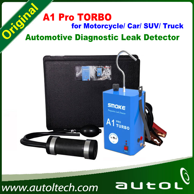 Latest Car Smoke Machine Automotive Diagnostic Leak Locator A1 PRO Turbo for Motorcycle/ Car/ SUV/ Truck, Can Instead of All-100