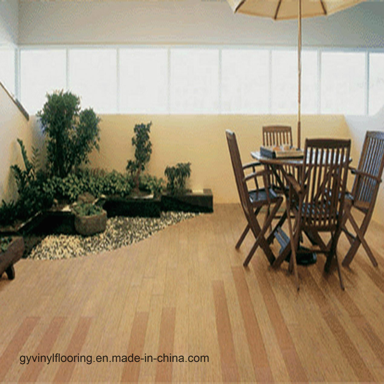 China Public Place Loose Lay Plastic Vinyl Floor Pvc Flooring