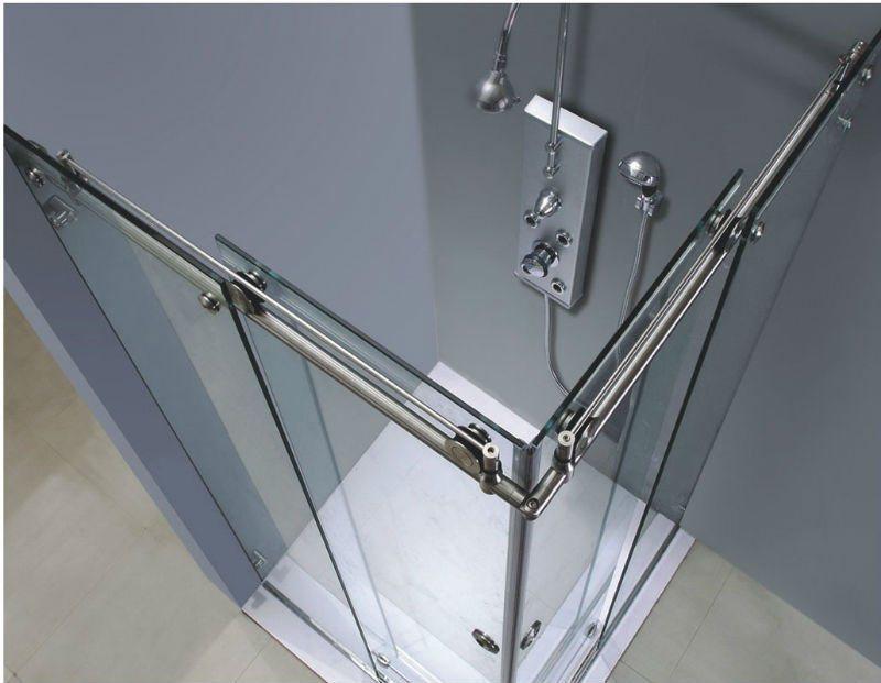 China Best Price Shower Frameless Glass Sliding Door For Bathroom