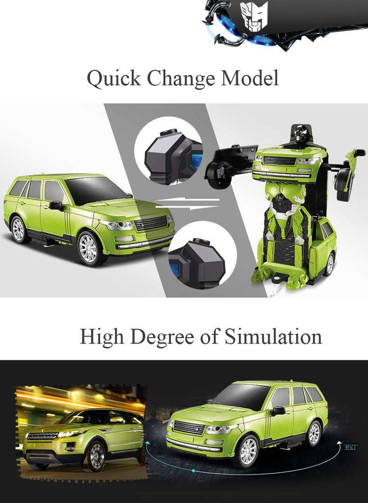 043651-2.4G RC Remote Control Deformation Robot pictures & photos