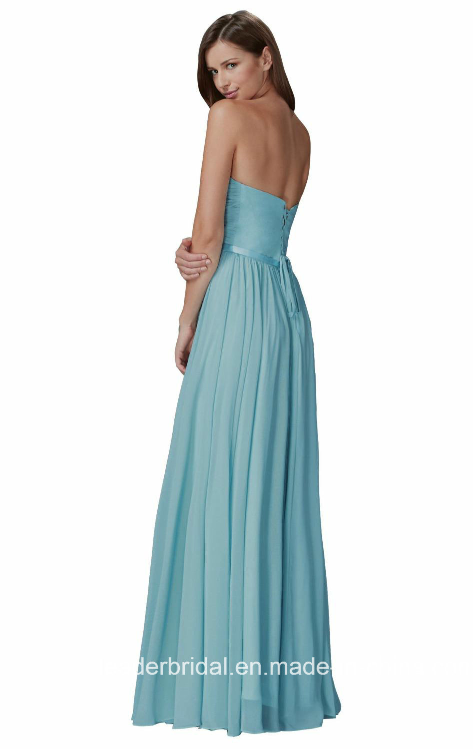2018 Cocktail Homecoming Dresses Empire Bridesmaid Dress G11385 pictures & photos