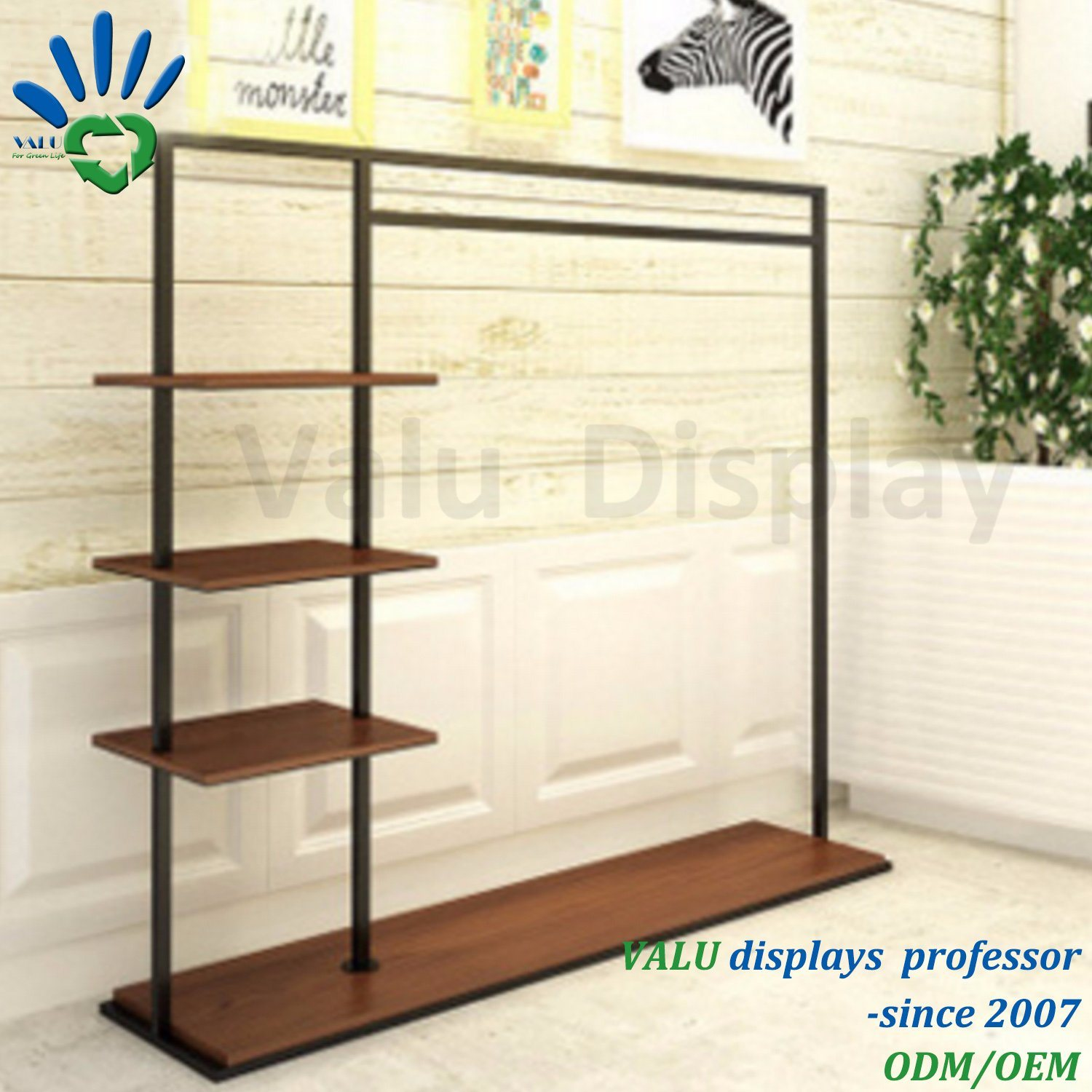 China Cheap Shop Fitting Garment Rack Clothes Hanging Stand China