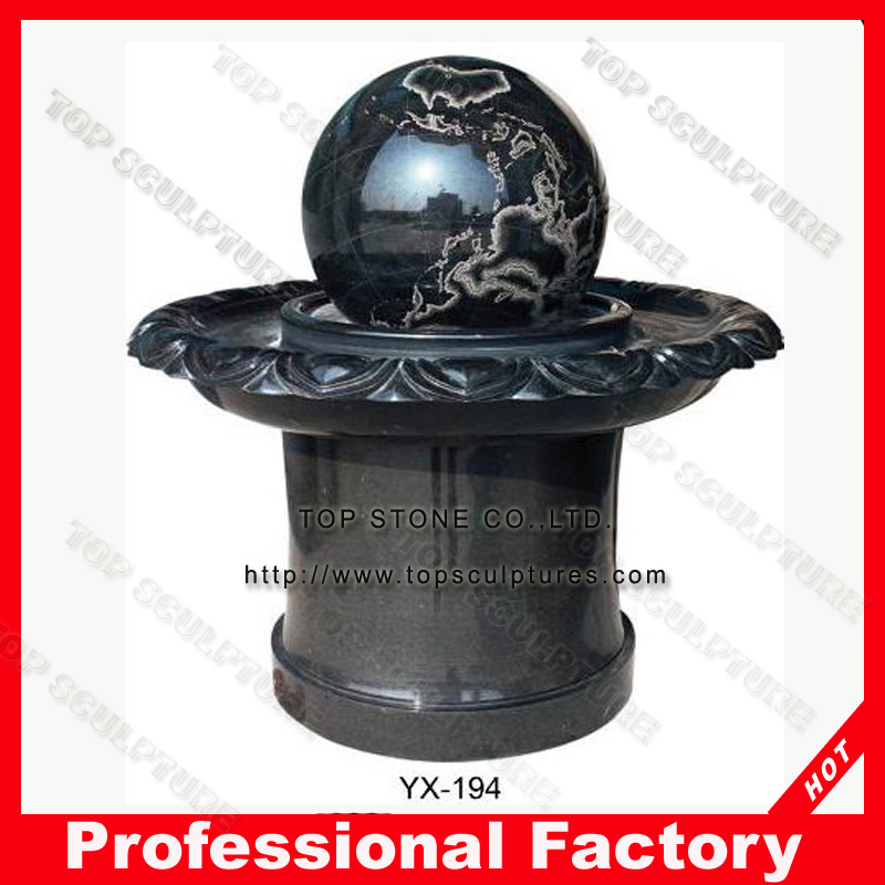 China Garden Decoration Landscaping Floating Ball Water Fountain Stone Rolling Sphere