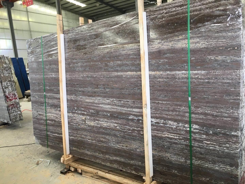 China Titanium Black Travertine With, Black Travertine Laminate Flooring
