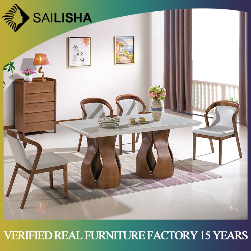[Hot Item] Simple Modern Style Home Furniture Fancy Dining Table Set with  Chairs Kitchen Dining Room Furniture