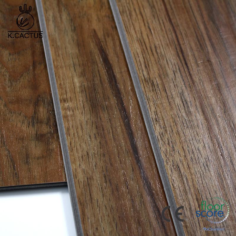 China Waterproof Durable Healthy Interlock Click Lvt Spc Flooring Pvc Luxury Vinyl Plank Floor 4mm