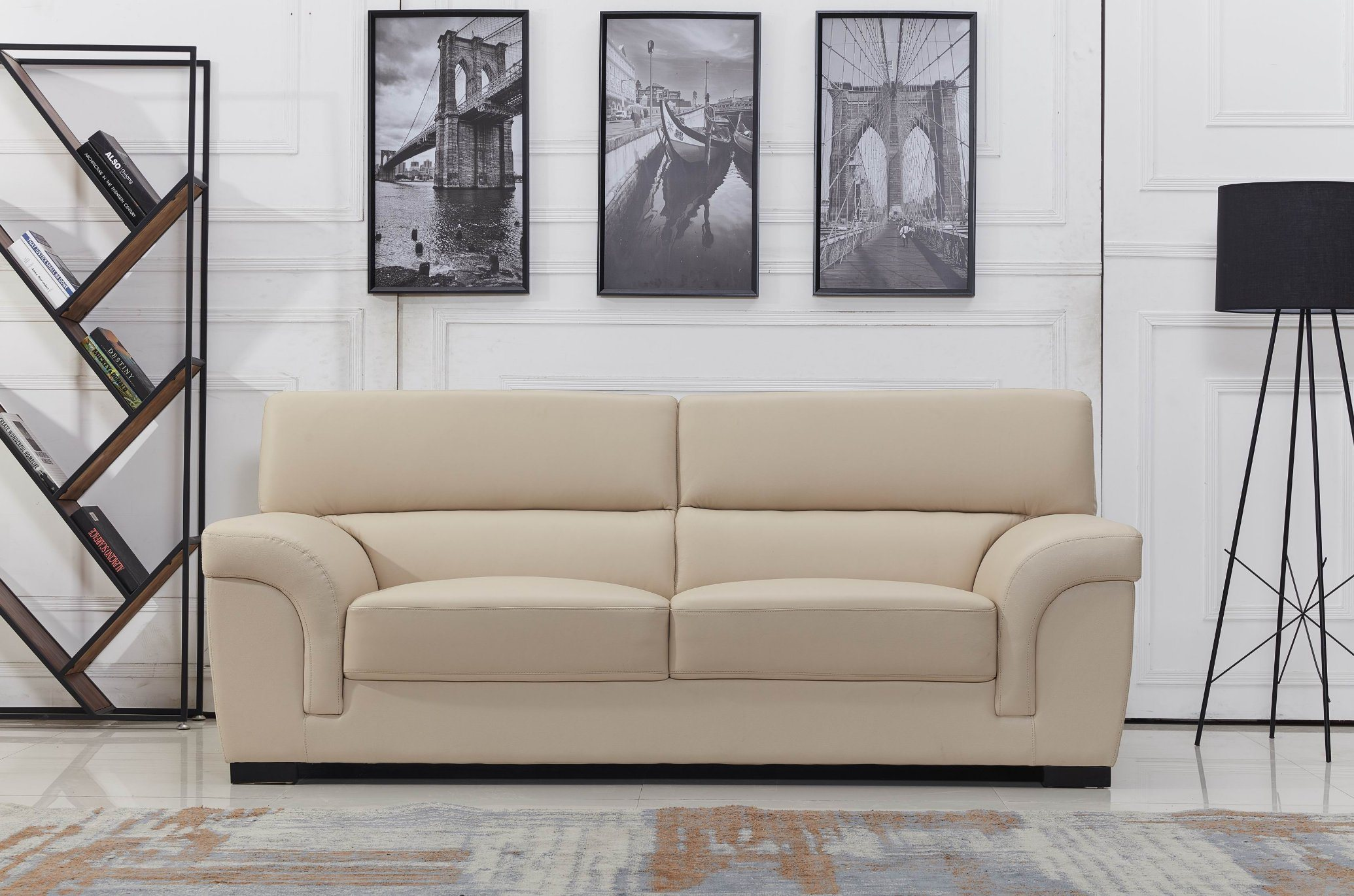 China European Leather Sofa Good Quality Beige Color Photos Pictures Made In China Com