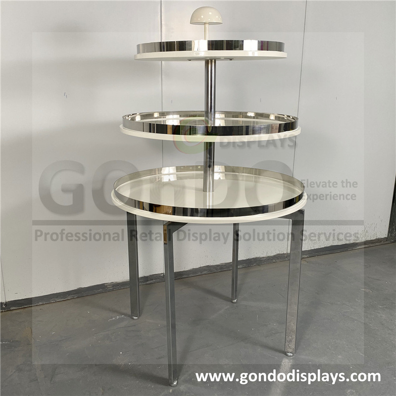 China Whole Clothes Design 3, 3 Tier Round Display Table