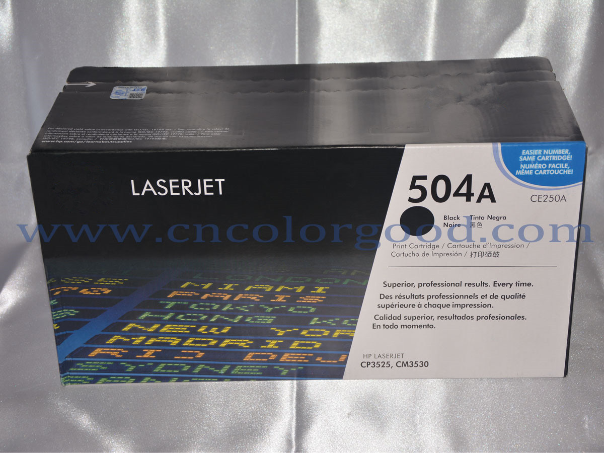 GENUINE HP CE250A 504A BLACK TONER CARTRIDGE LASER JET