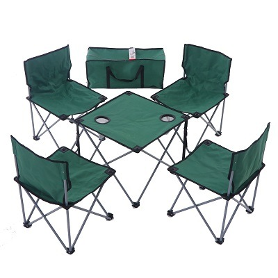 China Portable Folding Camping Table Chairs Set Outdoor Camp Beach Picnic With Cup Holder Carrying Bag China Camping Table Chairs Set Beach Picnic Chairs With Cup Holder