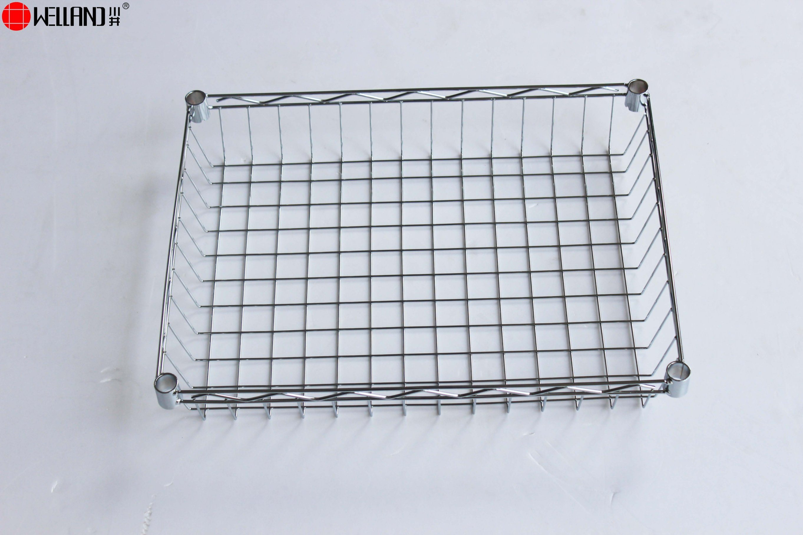 China DIY Chrome Kitchen Metal Wire Basket Trolley Rack with Nylon ...