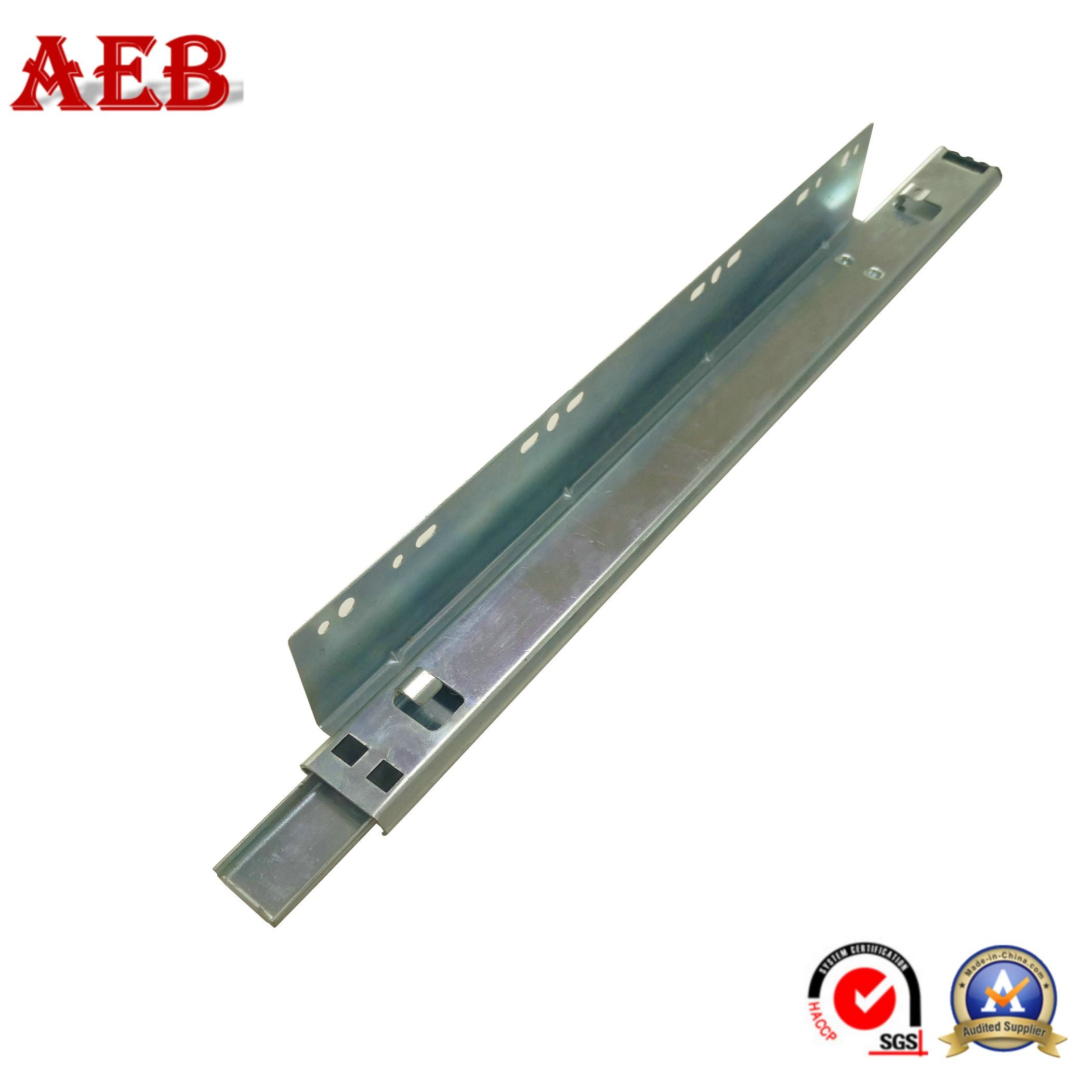 China L Shaped Kitchen Cabinet Drawer Slide 35mm Telescopic Channel Linear Guide Bearing Basket Slides Ball