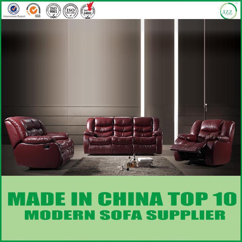 [Hot Item] Lazy Boy Home Theater Mahogany Leather Recliner Sofa