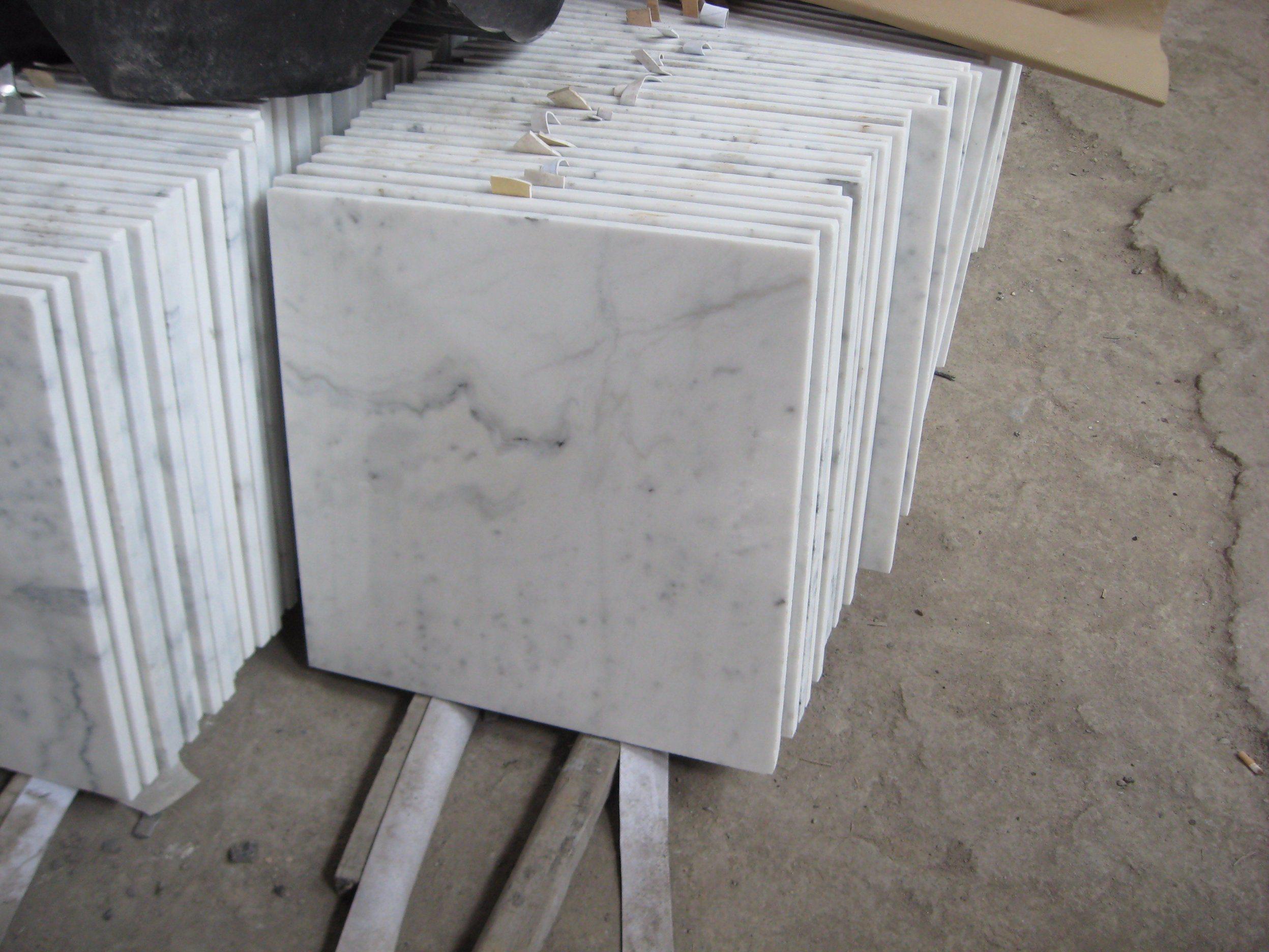 China Carrara White Marble Tiles Slab For Flooring Walling