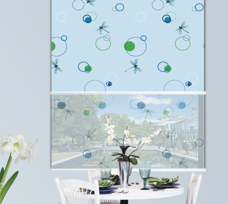 Double Fabric Patterned Roller Blinds
