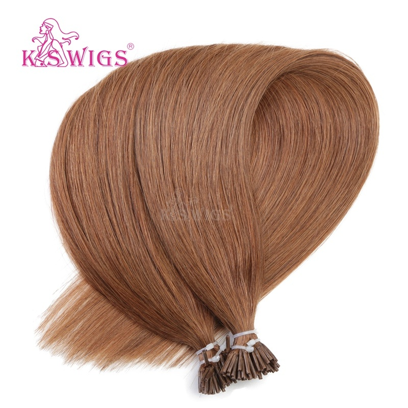China K S Wigs I Tip Hair Color 30 Virgin Remy Human Hair