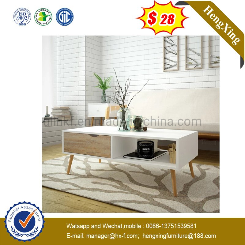 [Hot Item] Best Price Home Living Room Furniture White Color MDF Coffee  Table (UL-6587)