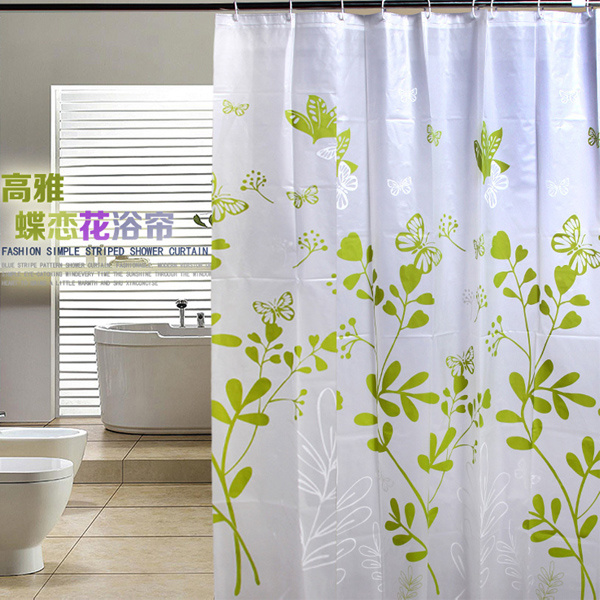 China High Quality 100 Polyester Waterproof Shower Curtain For Bathroom DPH7090