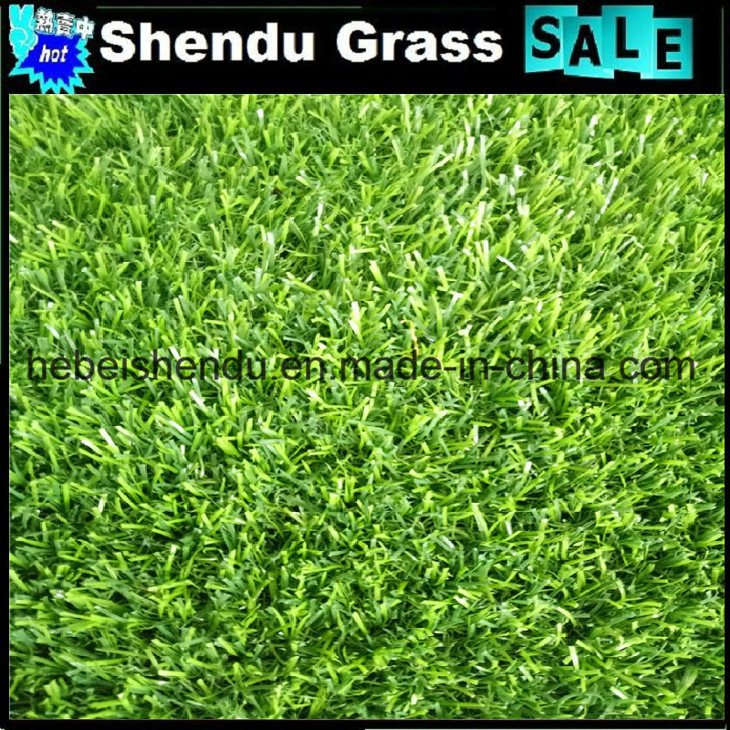 30mm Green Straight+Green Curl Yarn Synthetic Grass for Landscape