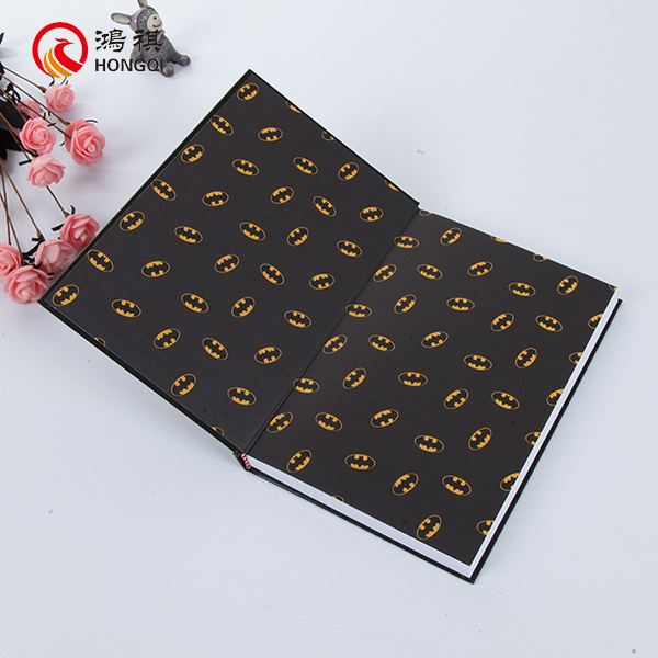 Cartoon Print Hardcover Notebook