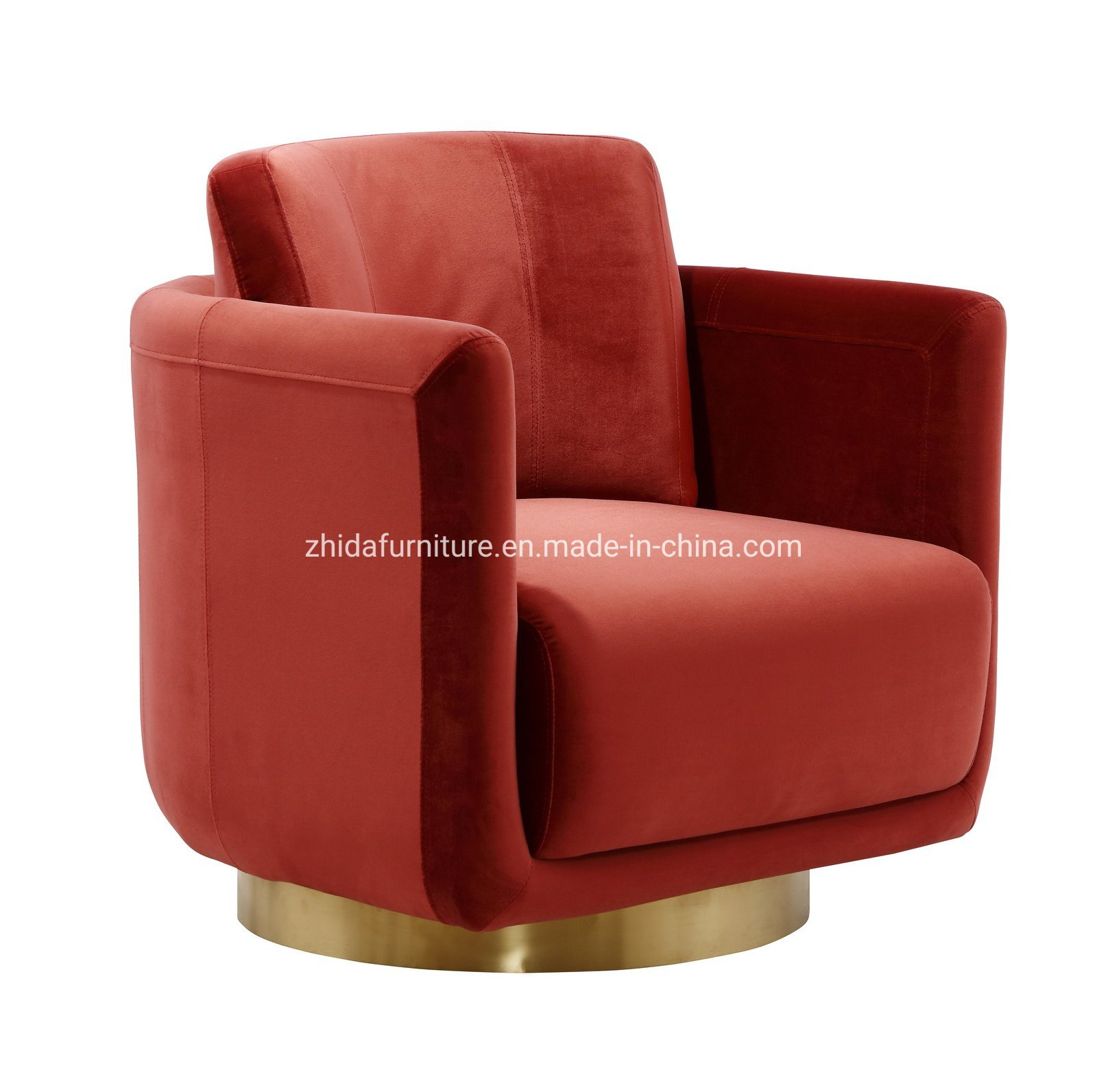 China Luxury Design Leisure Round Swivel Chair For Bedroom
