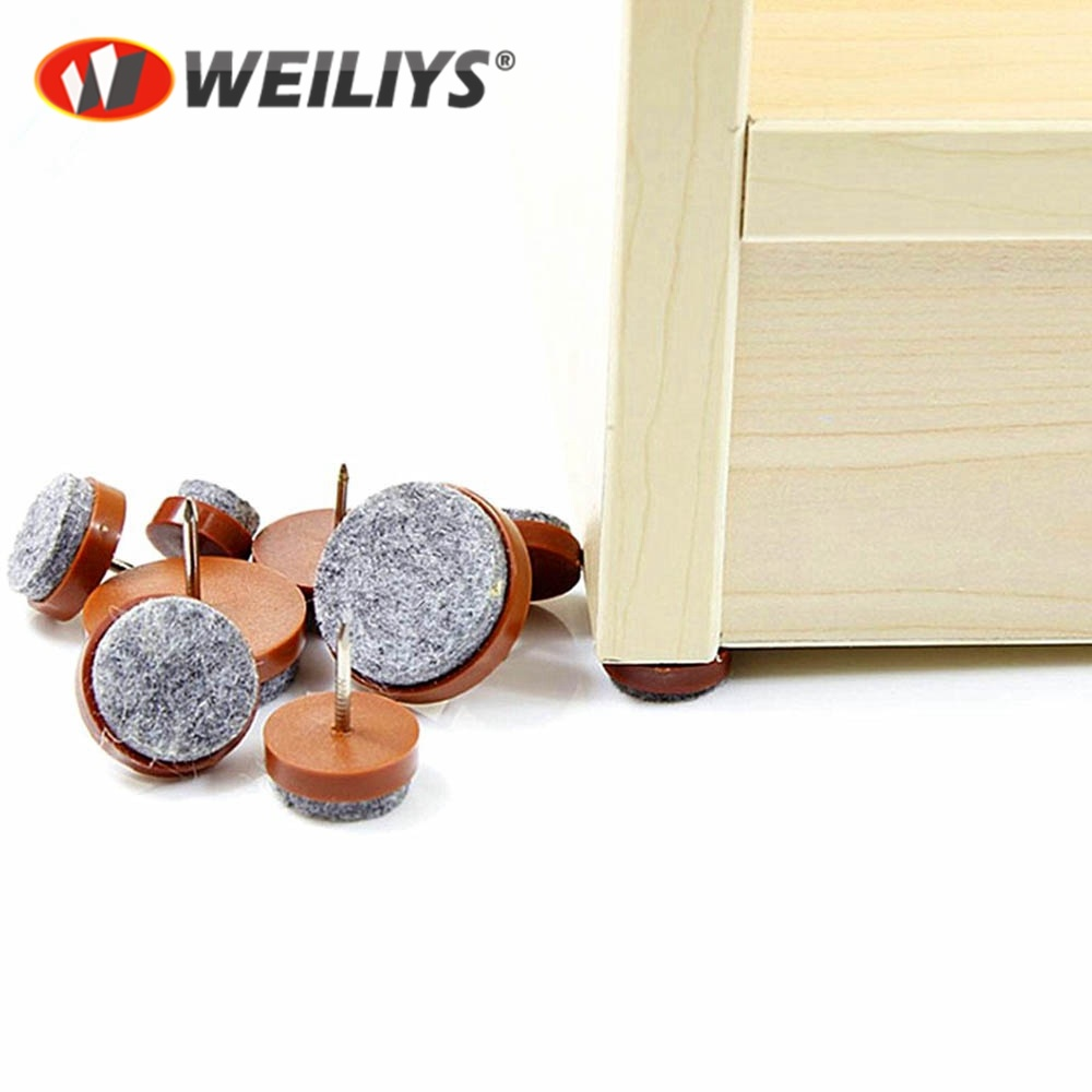 24mm Brown Felt Furniture Pads Nail-in Floor Protector Glides Made in Germany